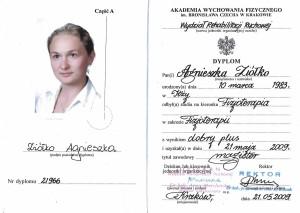 Agnieszka Szczerbowska - Dyplom