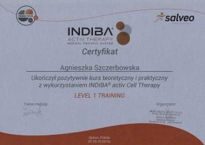 Agnieszka Szczerbowska -  Indiba Level1